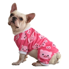 CuteBone Dog Pajamas Cute Print Dog Apparel Dog Jumpsuit Pet Clothes Pajamas P46